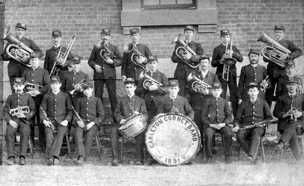 Carleton Cornet band 1891