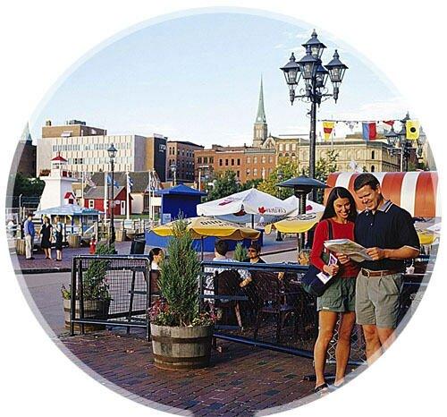 Couple at Market Square, Saint John, New Brunswick