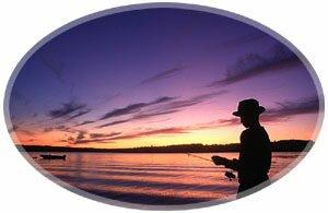 Fishing on the river-Hampton, New Brunswick