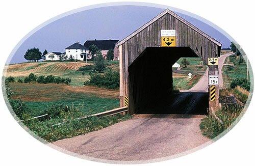 Covered Bridge Smith Creek, Sussex, New Brunswick