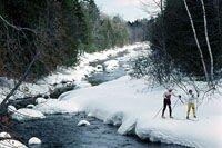 Ski trail, La Source, Charlo