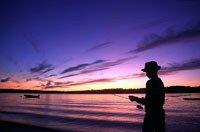 Boy fishing, Kingston Peninsula