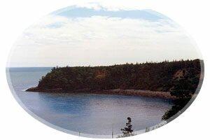 View of the point-rving Nature Park, Saint John, New Brunswick