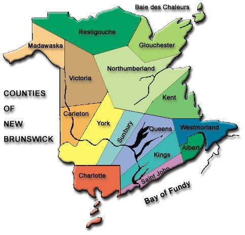 Counties of New Brunswick