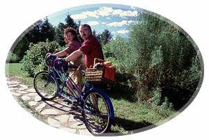 Cyclist, Restigouche County, New Brunswick